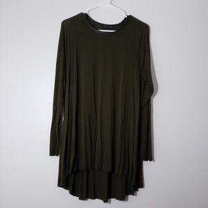 Zara Collection Crew Neck Long Sleeve Blouse